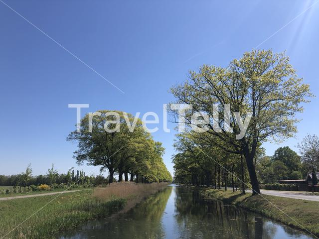 Apeldoorns canal around Loenen, Gelderlan The Netherlands