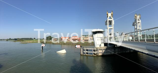 Panorama from the Citybridge over the IJssel in Kampen The Netherlands