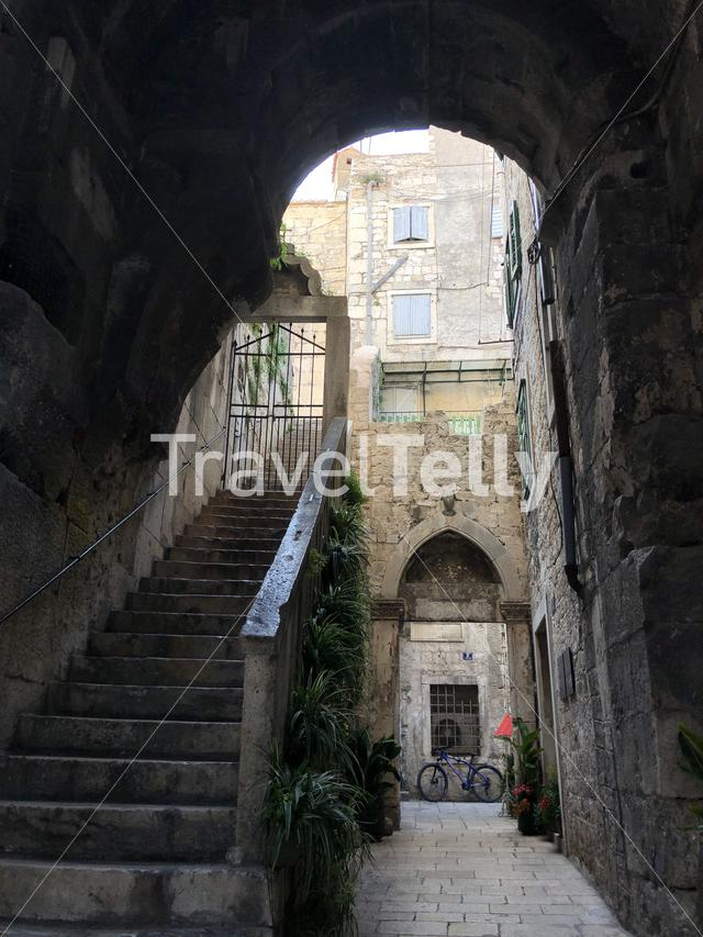 Stairs in the old town of Split Croatia