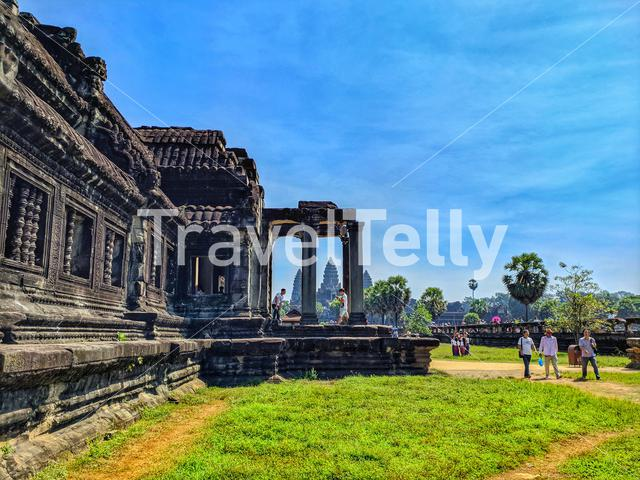 In the middle of the day from Angkor Wat Siem Reap Cambodia