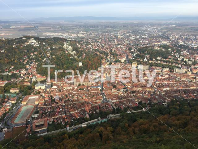 View from mount tampa over Brasov Romania