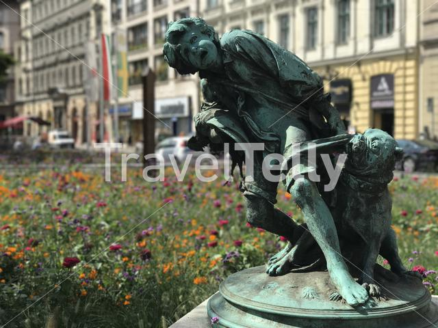 Statue in Budapest Hungary