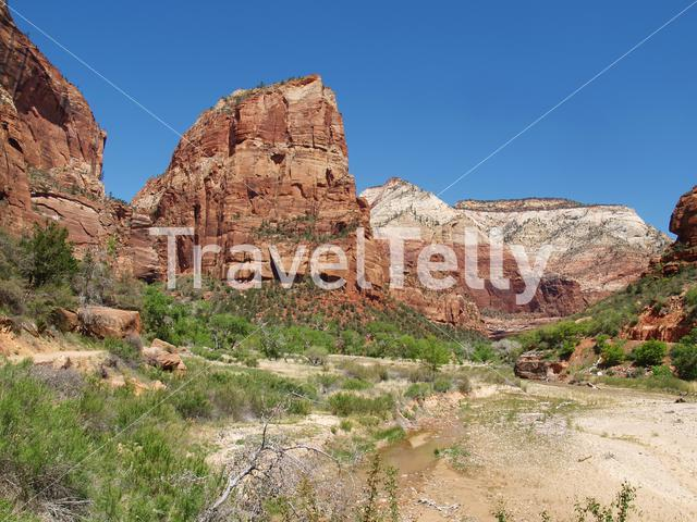 Mountain landscape in Zion National Park