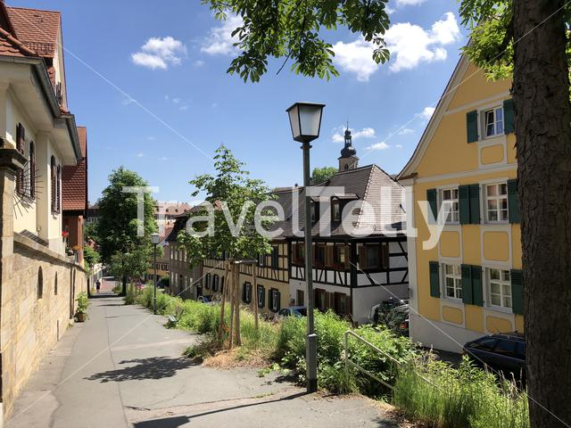 Timber frame houses in Bamberg Germany