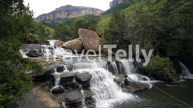 Waterfall at Royal Natal National Park in South Africa in South Africa