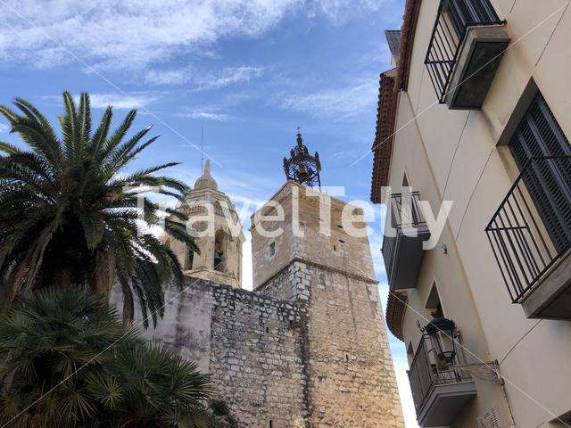 The old town of Sitges, Spain