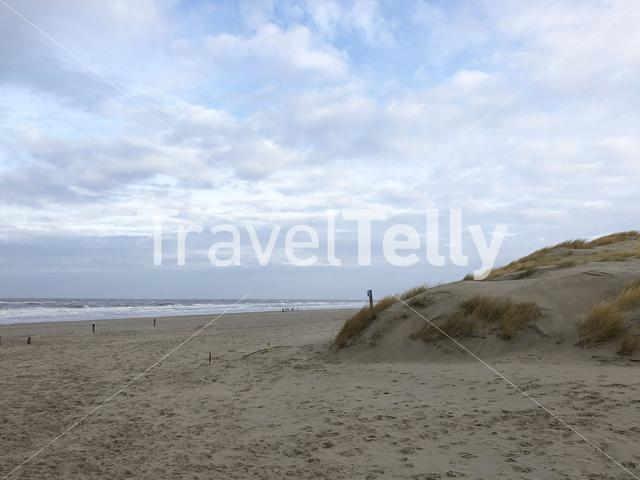 Beach on Texel island in The Netherlands