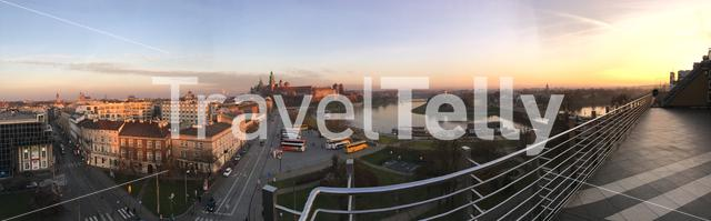 Panorama view from around the Wawel Royal Castle