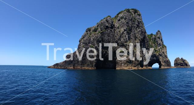 Panorama Hole in the rock Bay of Islands New Zealand