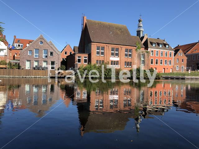 Canal around the old town of Emden, Germany