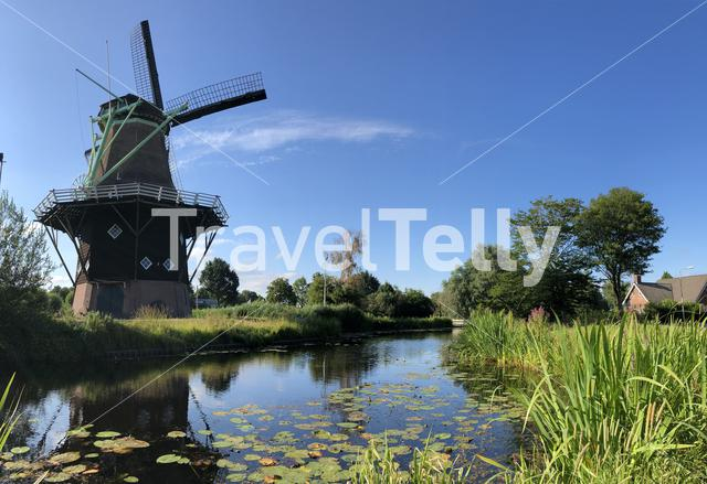Penninga's windmill in Joure Friesland The Netherlands
