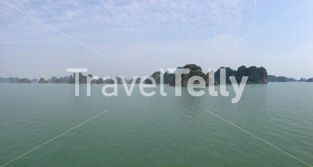 Panoramic landscape of Ha Long Bay in Vietnam