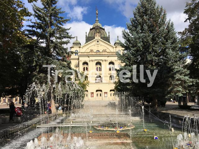 The State Theatre Košice with fountain in Slovakia