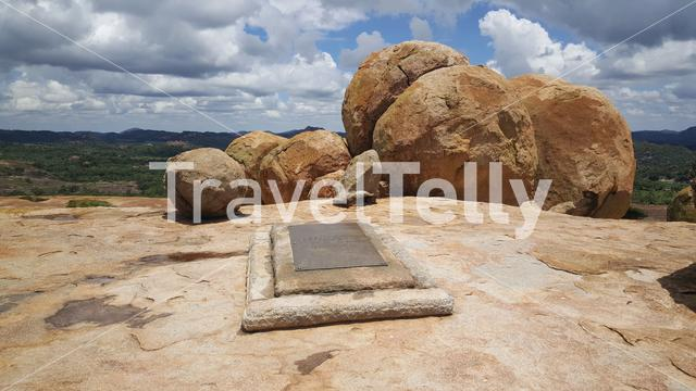 Cecil john rhodes grave at Matobo National Park in Zimbabwe