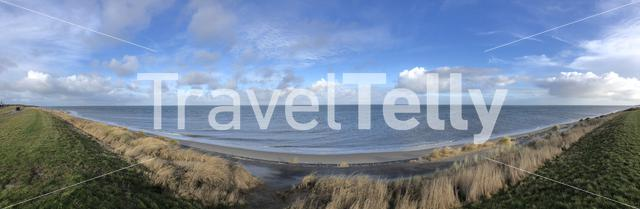 Panorama from the coast around Texel in The Netherlands