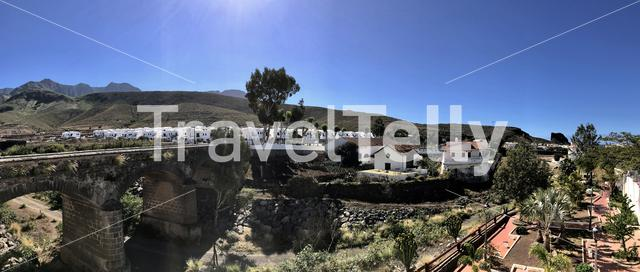 Panorama from Agaete Gran Canaria Canary Islands Spain