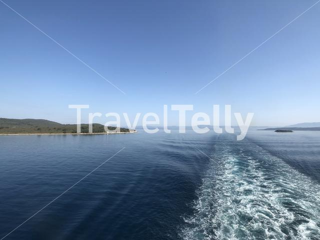Passing by the island Solta in Croatia