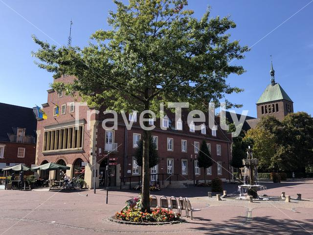 Old Town Hall square in Vreden, Germany
