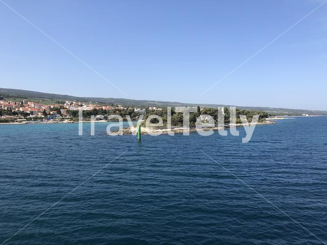 Arriving at Supetar a town of the Dalmatian island on Brac in Croatia