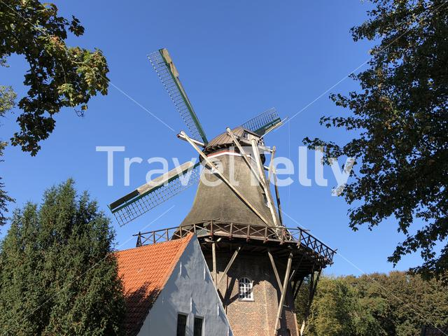 Windmill in the city park in Emden, Germany