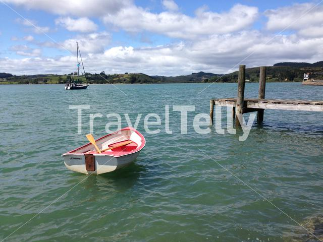 Boats in Mangonui Harbour New Zealand