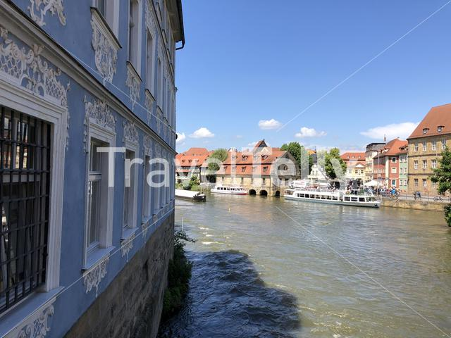 The Linker regnitzarm river in Bamberg, Germany