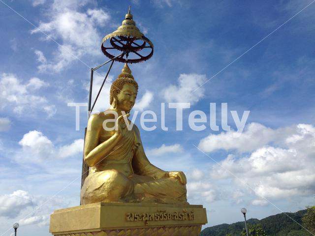 Golden Buddha statue in Ban La-up Northern Thailand