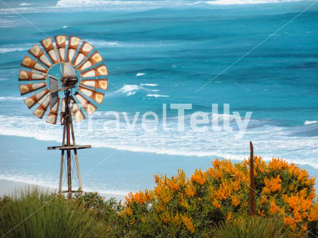 Close up from a old windmill at Lucky Bay beach at Cape Le Grand National Park Australia