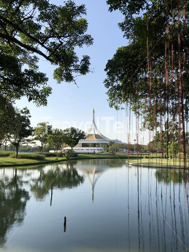 Commemoration Hall (Ratchamongkol Hall) in King Rama IX Park, Bangkok, Thailand