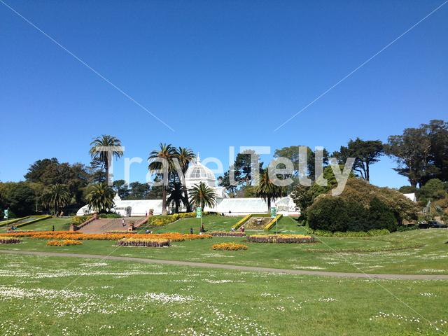 The Conservatory of Flowers is a greenhouse and botanical garden in Golden Gate Park, San Francisco