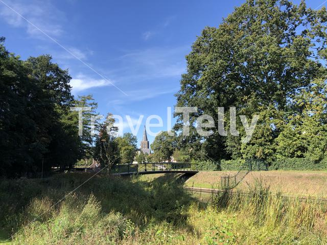 The city wall around Groenlo, The Netherlands