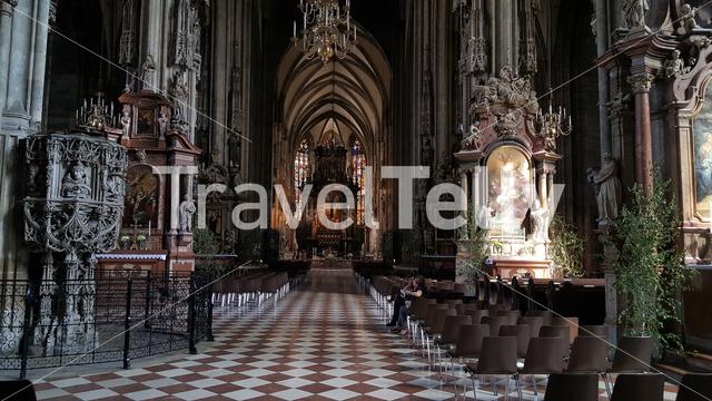Interieur of Stephens Cathedral Vienna