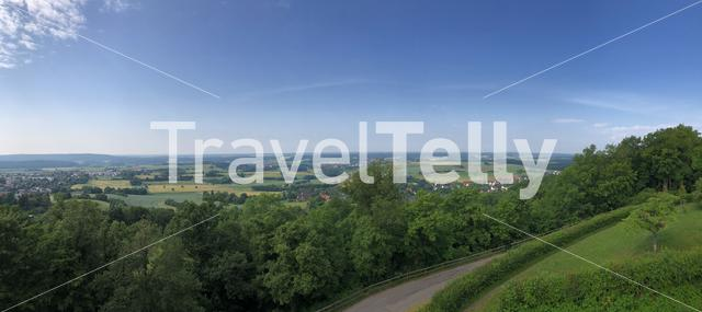 Scenic panorama view from the Altenburg Castle in Bamberg Germany