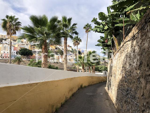 Around the old town of Las Palmas on the island Gran Canaria