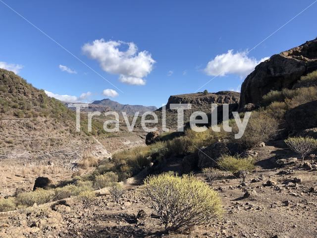Scenery around Las Ninas Reservoir on Gran Canaria