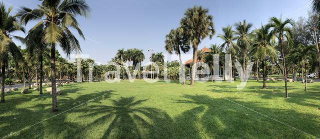 Panorama from Lumphini Park in Bangkok, Thailand