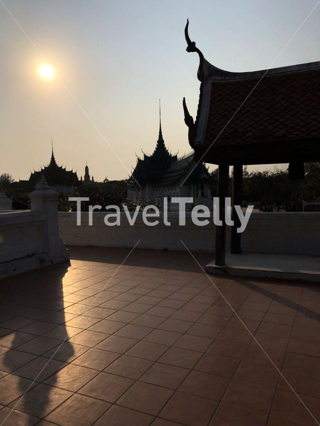 Shadow from architecture at the Ancient Siam, Thailand