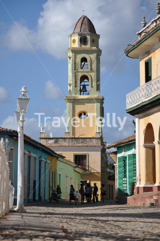 Street towards the National Museum of the Struggle Against Bandits in Trinity trinidad de cuba