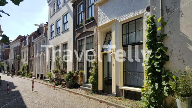Houses and the Bralheze street in Zutphen The Netherlands