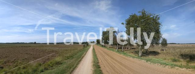 Bicycle path and sand road around Nijverdal, The Netherlands