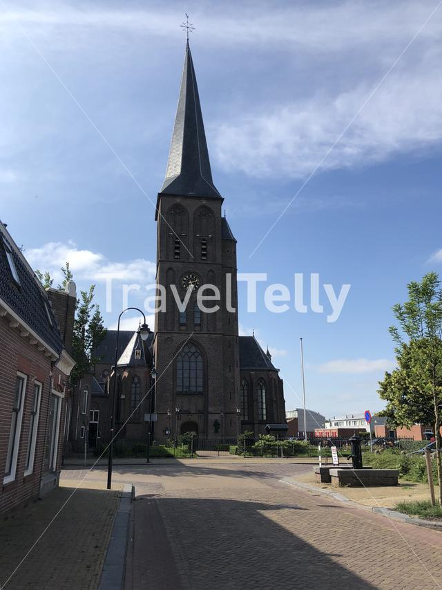 The Sint Werenfriduskerk a church in Workum, Friesland, The Netherlands