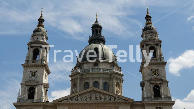 The St. Stephen's Basilica in Budapest Hungary