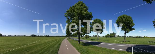 Panoramic landscape around Zelhem in Gelderland, the Netherlands