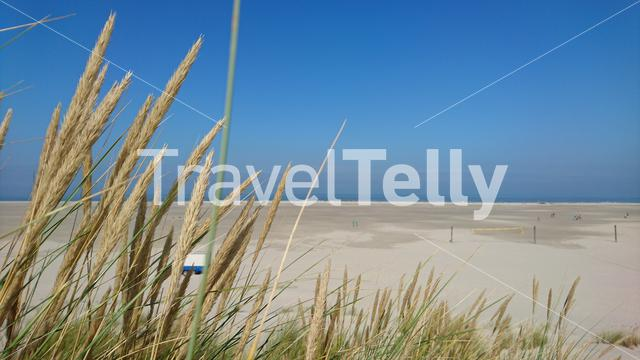 Almost empty beach at Terschelling, in The Netherlands