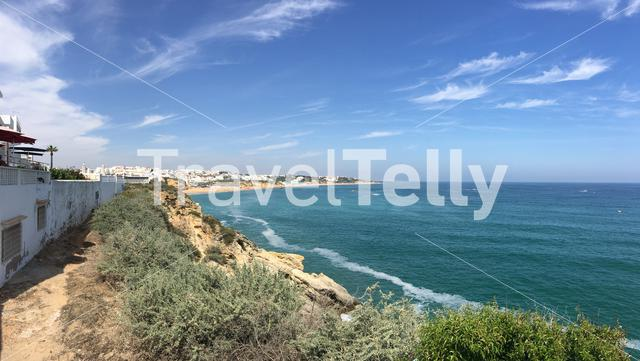 Panorama from Praia do Túnel (Peneco) beach in Albufeira Portugal