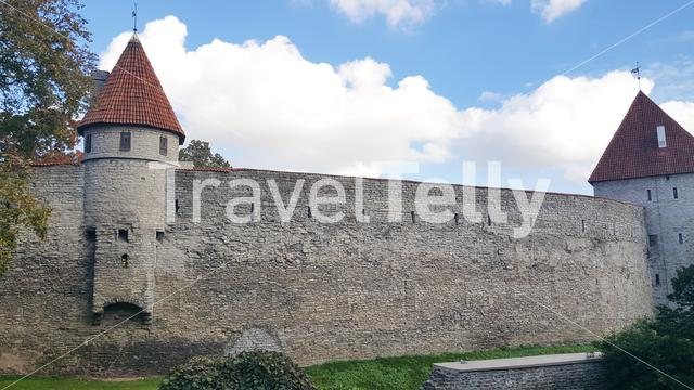 Old town wall in Tallinn Estonia