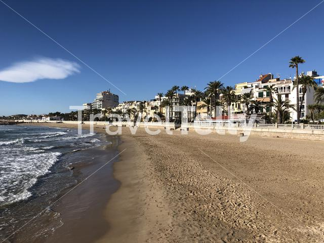 Beach de l'Estanyol in Sitges, Spain