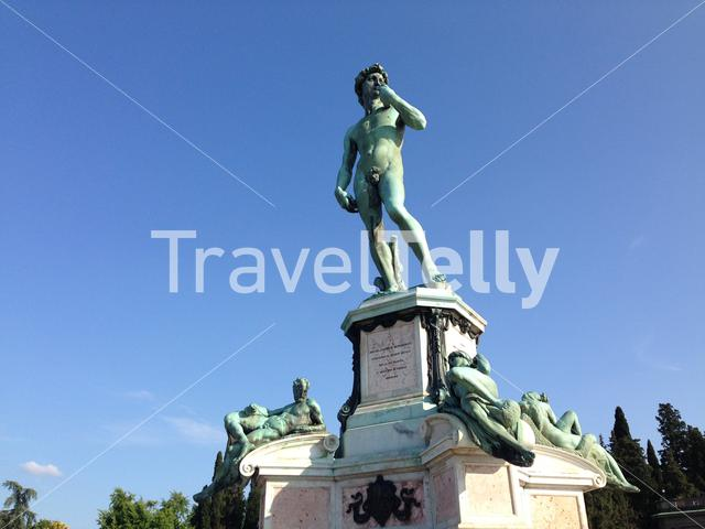 Piazzale Michelangelo is a famous square with a magnificent panoramic view of Florence, Italy