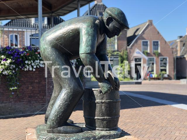 Statue in Grou, Friesland The Netherlands
