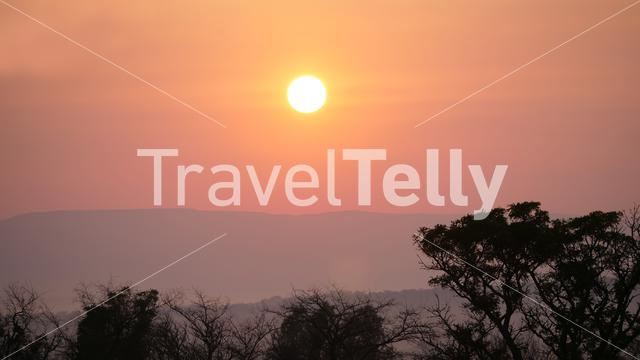 Sunset in Waterberg South Africa